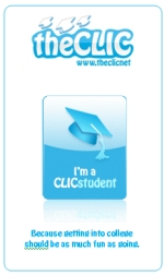 Student CLIC college planning stickers